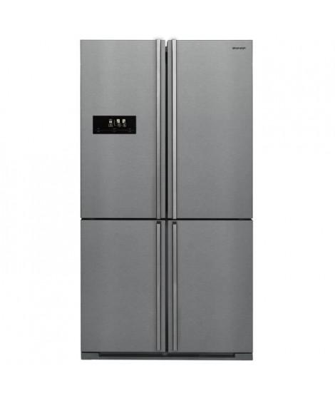 SHARP SJF1560E0I - Réfrigérateur multi-portes - 560L (390+170) - Froid ventilé Advanced No Frost - A+ - L91 x H185 cm - Inox