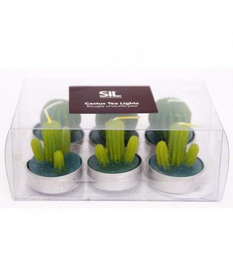 Bougie Cactus Tea Light PK6 - 3,7 cm