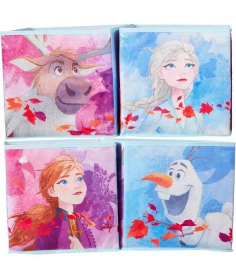 DISNEY FROZEN Cubes de rangement La Reine des Neiges - Jouets pour enfants - Bleu