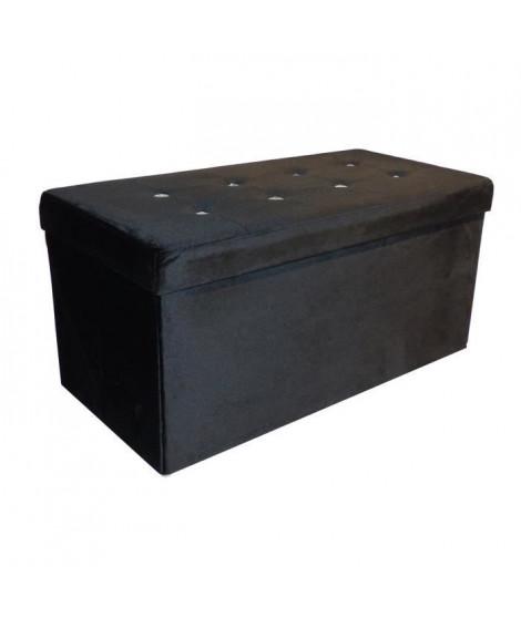 COTTON WOOD Banc Coffre pliable Diamant - 76 x 38 x 38 cm - Noir