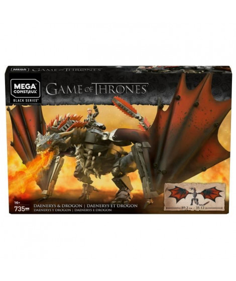 MEGA CONSTRUX Game of Thrones Drogon 50 cm - GKG97 - Briques de construction - 16 ans et +