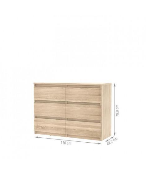 FINLANDEK Commode de chambre NATTI style contemporain décor chene - L 110 cm