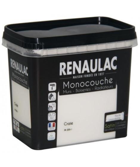 Peinture murale monocouche multi-support 0,75 L craie satin Murs / Boiseries / Radiateurs - RENAULAC