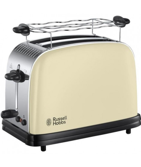 RUSSELL HOBBS 23334-56 - Toaster Colours Plus - Technologie Fast Toast - Creme