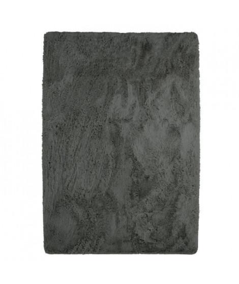NEO YOGA Tapis de salon ou chambre - Microfibre extra doux - 120x170 cm - Gris foncé