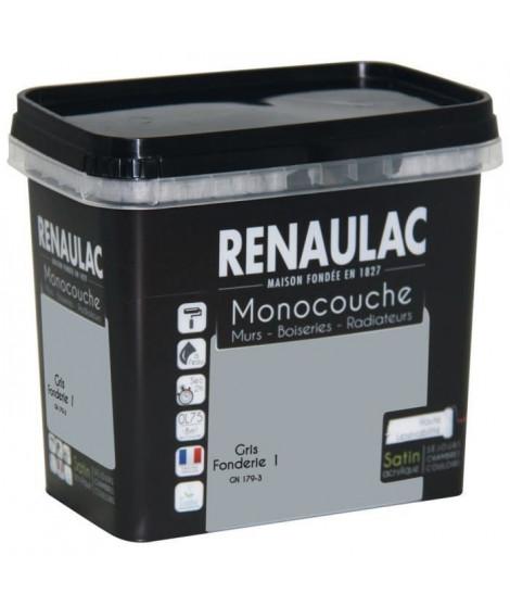 Peinture murale monocouche multi-support 0,75 L gris fondé satin Murs / Boiseries / Radiateurs - RENAULAC