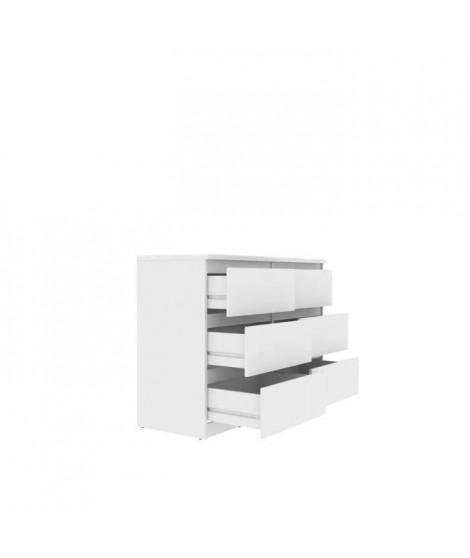 FINLANDEK Commode de chambre NATTI style contemporain blanc mat - L 110 cm