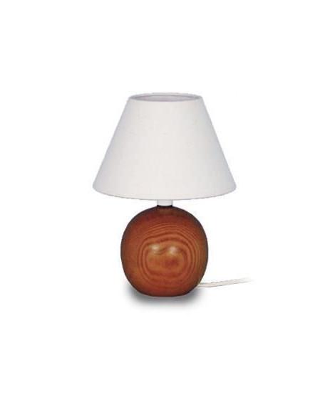 LAMPE BOIS Lampe de chevet Bois hetre - 18x18x26cm - Foncé