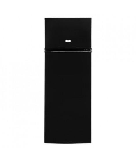 CONTINENTAL-EDISON CEF2D227B2 - Réfrigérateur congélateur haut - 227L (187+40) - Froid statique - A+ - L 54cm x H 144cm - Noir
