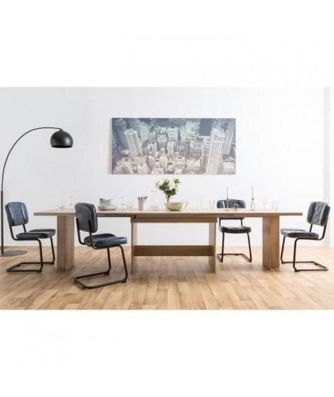 ANCONA Table a manger XXL extensible de 8 a 12 personnes classique décor chene sonoma - L 160 / 310 x l 90 cm