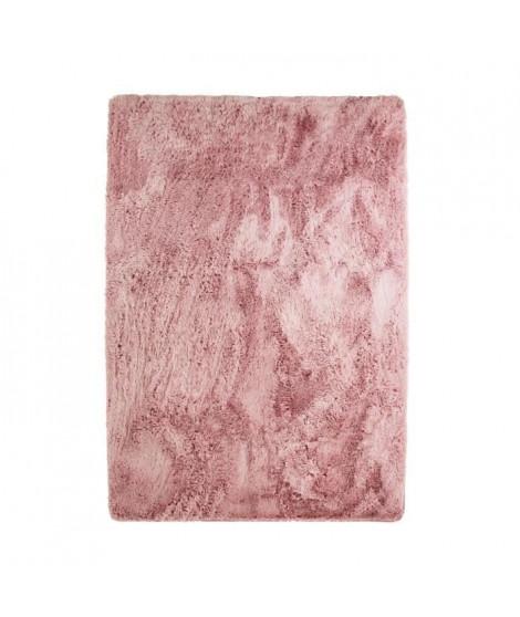 NEO YOGA Tapis de salon ou chambre - Microfibre extra doux - 120x170 cm - Rose