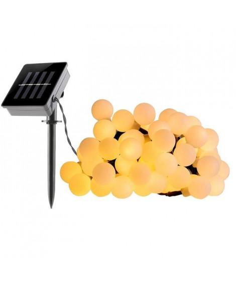 LUMI JARDIN Guirlande lumineuse a boule solaire Billy Solar - Lumiere blanc - 60 boules - 700 cm