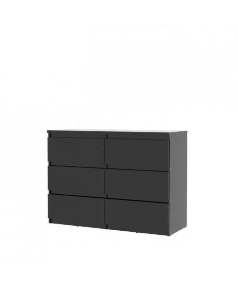 FINLANDEK Commode de chambre NATTI style contemporain noir mat - L 110 cm