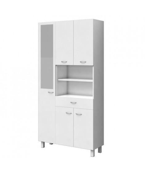 ESSENTIEL - Colonne de salle de bain 5 portes - Blanc - L 80 cm