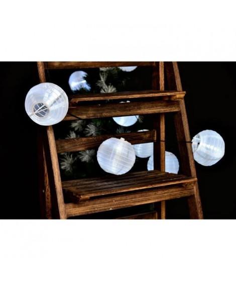 LUMIJARDIN Lanternes guirlande lumineuse solaire 10 lampions a LED - Résistant a l'eau