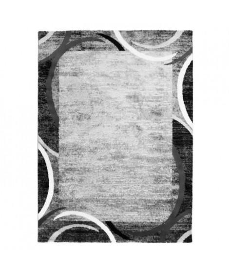 SUBWAY ENCADRE Tapis de salon en polypropylene - 120x170 cm - Gris