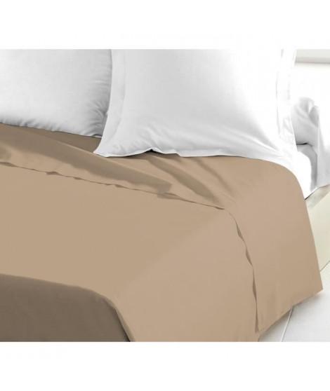 Drap plat 100% Coton 240x300 cm beige