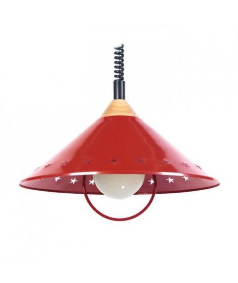 M&B ETOILE Suspension tôle acier - 40x40x80 cm - Rouge